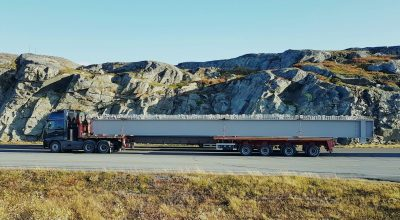 Oversize delivery for Sandsøya island